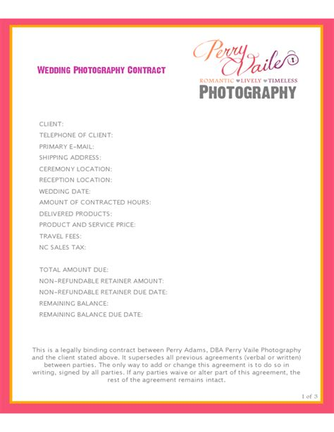 event contract sample sample photography contract template 20