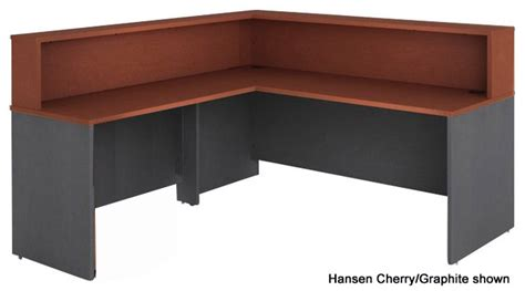 Reception Desk W Riser Stocked In 7 Color Combinations Reception Desk Riser