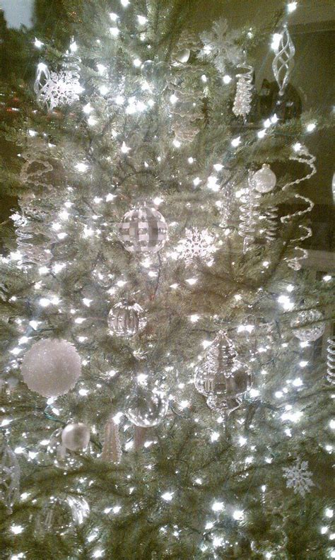silver white christmas tree holiday pinterest