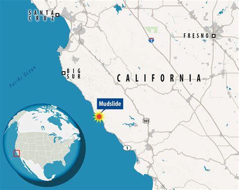 Pch Mudslide 2017 - big sur landslide added 13 acres to california s coastline daily mail online