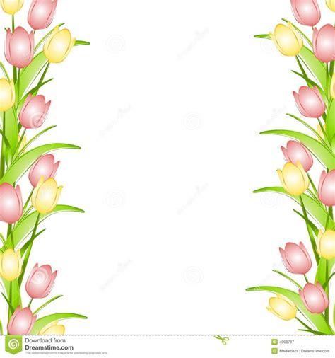 border design flower yellow pink flower border clip art pink yellow spring tulips