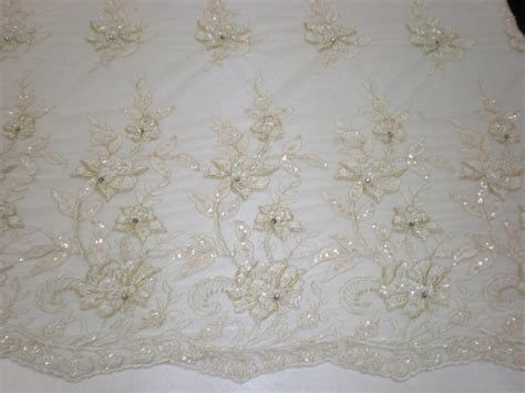 white beaded lace fabric white beaded embroidered lace mesh fabric from fabric