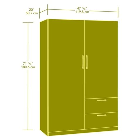 Sauder Beginnings Wardrobe by Sauder Beginnings Wardrobe Storage Cabinet In Cinnamon