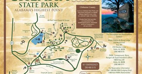 Cheaha State Park Map by Self Guided Tour Of Ccc Buildings And More Alapark