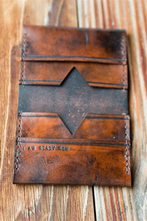 Handmade Means - giving gifts that something handmade leather wallet