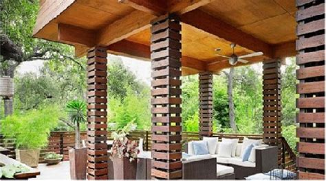 design kanopi cafe 16 desain tiang teras batu alam klasik mewah dan modern
