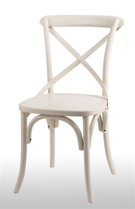 Bistro Dining Chairs Furniture Noosa Quot White Bistro Style Timber Cross Back Dining Chair Oz Antique White