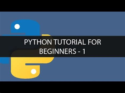 tutorial on python for beginners pdf python programming 1 python tutorial for beginners 1
