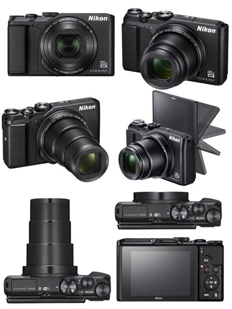 digital cameras nikon coolpix a900 with 35x optical zoom and 4k black at hunts