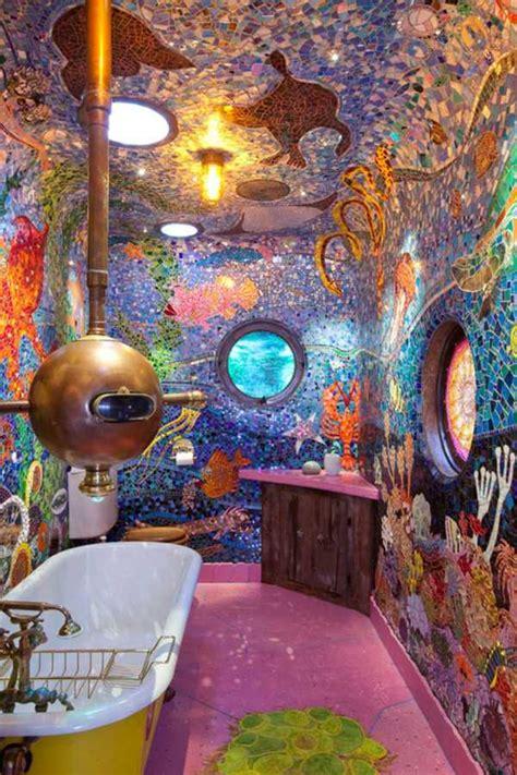 mosaique salle de bain merveilleuse  creative