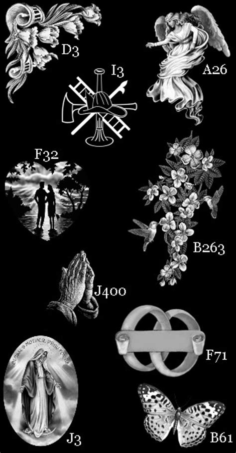 Headstone Vase Laser Etched Design Catalogue Headstone Etching Designs