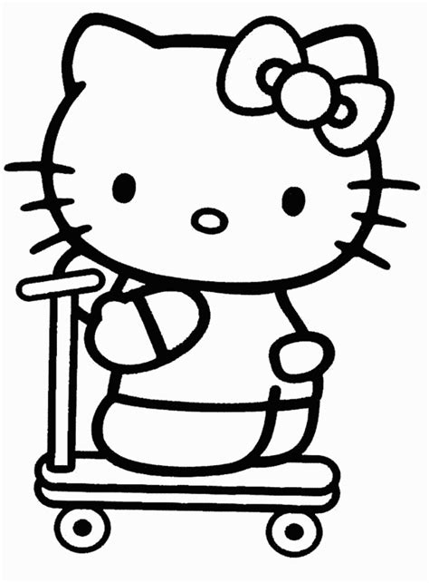 hello kitty coloring pages only free printable hello kitty coloring pages for kids