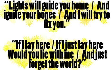 coldplay fix you lyrics meaning the 13 best images about music favorites on pinterest