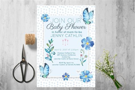 customizable invitation templates 20 baby shower invitation template psd eps and ai format