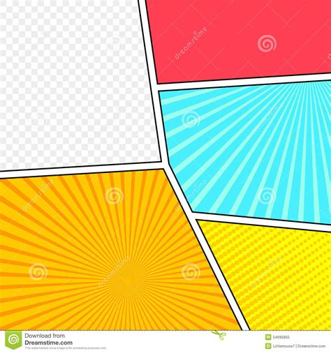 comic layout vector vector mock up of a typical comic book page stock vector