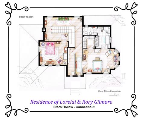 gilmore girls house plan house of lorelai and rory gilmore first floor by nikneuk on deviantart