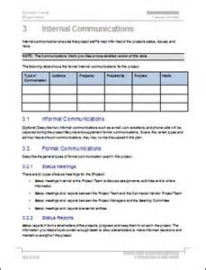 How To Write A Communications Plan Template by Communication Plan Templates Ms Word And Excel