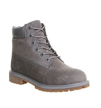 timberland juniors 6 inch premium waterproof boots grey