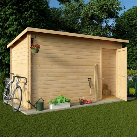 12 By 6 Shed Billyoh 12 X 6 Pent Log Cabin Windowless Heavy Duty Shed