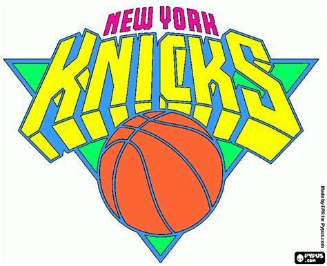 new york knick coloring page printable new york knick