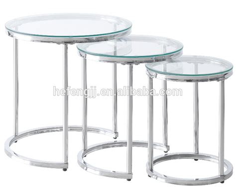 nest of glass coffee tables tempered glass nesting coffee table three tables buy