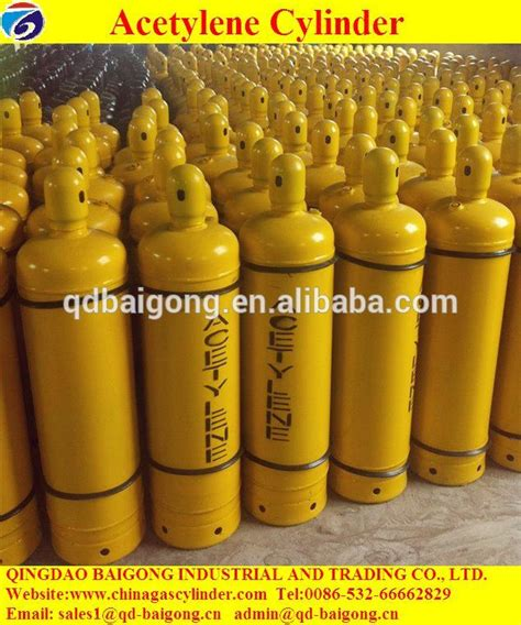 China High Purity Steel Cylinder Dissolved Acetylene Gas China C2h2 Ethyne Hp295 Steel Material 40l Dissolved Acetylene Gas Cylinder Price Buy Acetylene Gas Cylinder