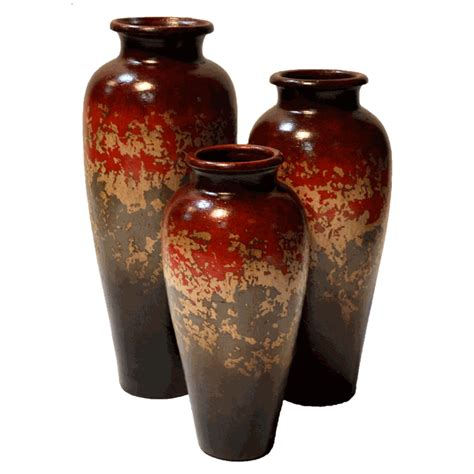 buendia red vases set
