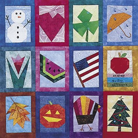 Foundation Piecing Patchwork - 8 patterns for paper pieced quilt blocks quilting