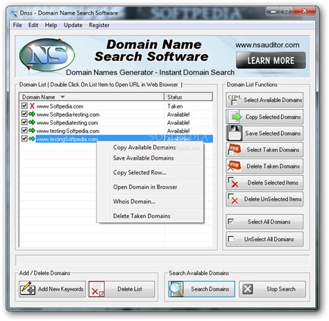 Name Finder Dnss Domain Name Search Software