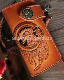 Handmade Biker Wallet - new tribal eagle falcon vintage handmade carved cowboy