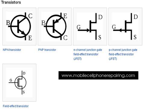 transistor npn tutorial circuit symbol circuit schematic symbols of electronic components mobile phone repairing