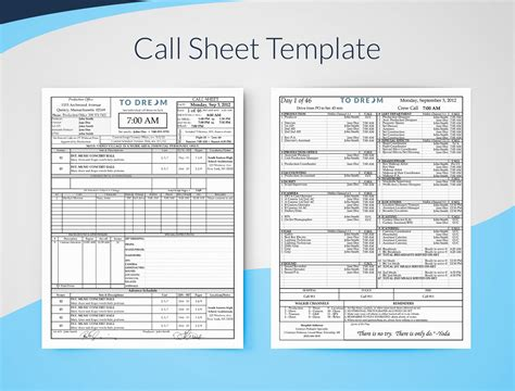 Call Sheet Template For Excel Free Download Sethero Free Call To Templates