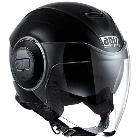 agv fluid solid motosiklet kaski siyah