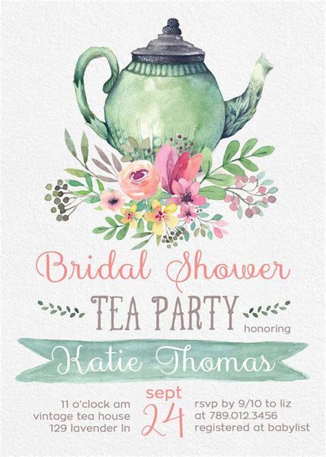 free bridal shower tea invitation templates best 25 tea bridal shower ideas on