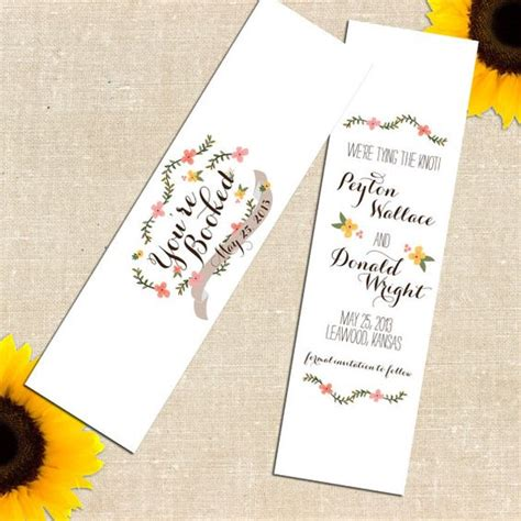 save the date dates and bookmarks on pinterest