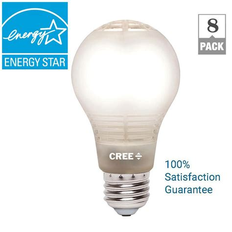 Led Light Bulbs 60w Equivalent Cree 60w Equivalent Soft White A19 Dimmable Led Light Bulb With 4flow Filament Design 8 Pack