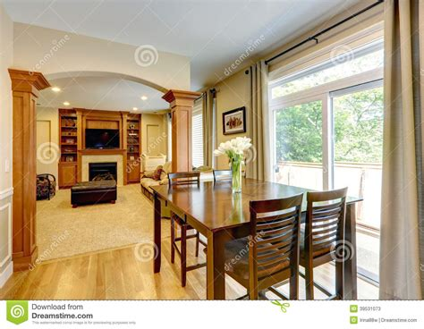 posh home interior luxury home interior with column wall stock image image