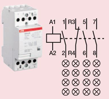 contactor 4 circuit 40 high quality abb contactor
