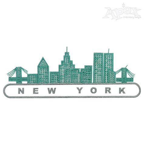 Embroidery Design Ny   new york city skyline embroidery design