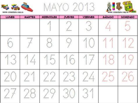 Calendã Mãªs De Maio Calendarios Mes De Mayo 2013