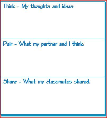 Think Pair Template by Ed401spring11 Koch Storybook 2
