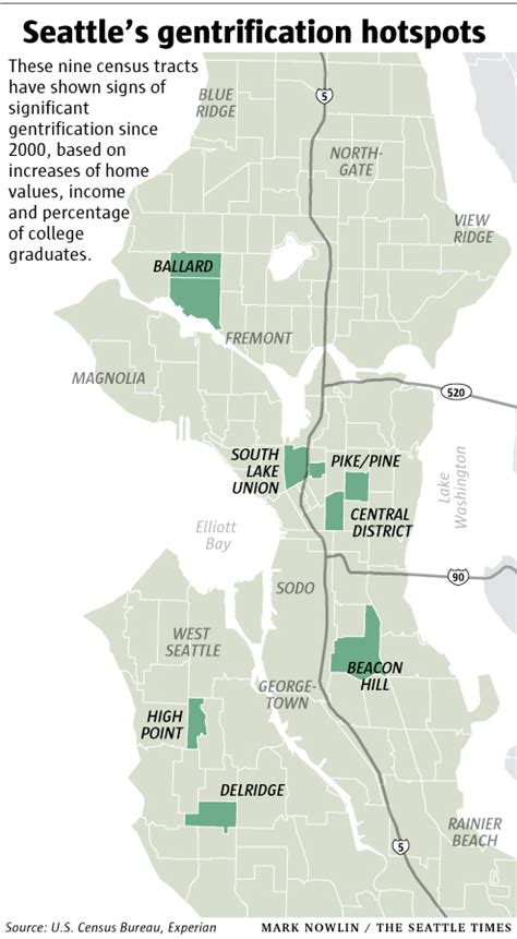 seattle income map yuppie playgrounds where gentrification is in