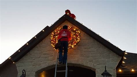 installing christmas lights business photo album