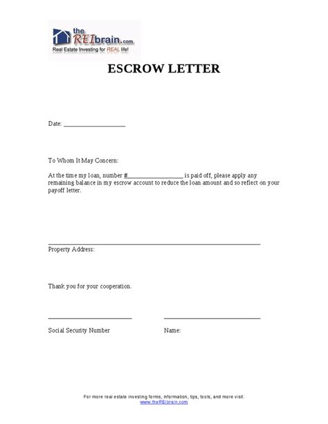 Mortgage Closing Thank You Letter Escrow Letter Hashdoc