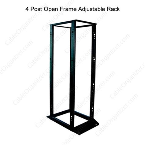 4 post open frame adjustable rack