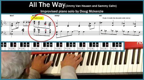 Piano Tutorial Way Way | all the way jazz piano tutorial youtube