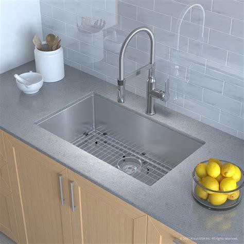 Kraus Usa Sinks kraus khu10030164042ch 30 inch kitchen sink and flex