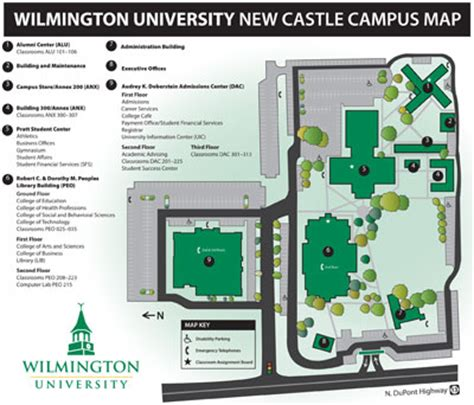 Http Www Wilmu Edu Admission Mba Admission Aspx by Wilmington New Castle Cus Map