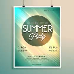 Photoshop Free Poster Templates by Summer Poster Template Vector Free