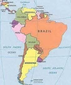 Neighboring Countries Of Brazil Professora M 225 Rcia Paises Da Am 201 Rica Do Sul